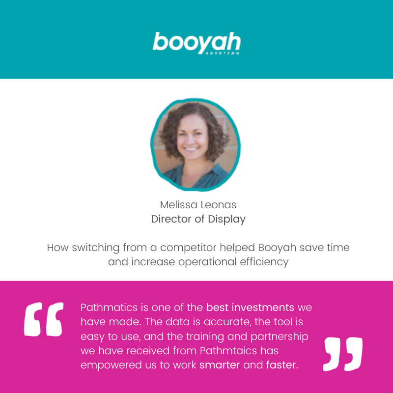 Melissa Leonas Director of Display How switching from a competitor helped Booyah save time and increase operational efficiency